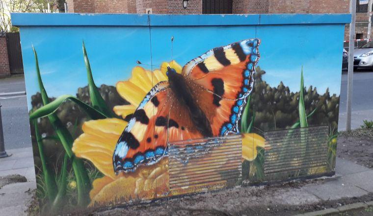 Stadtwerke Bonn Graffitti Schmetterling am Hofgarten